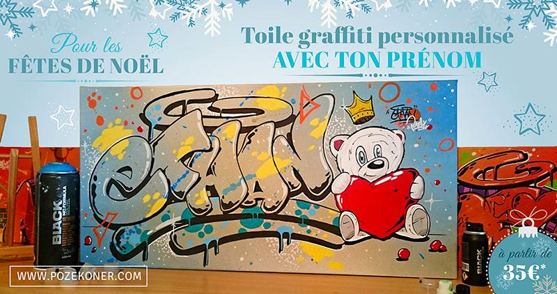 toile-graffiti-personnalise-pour-noel